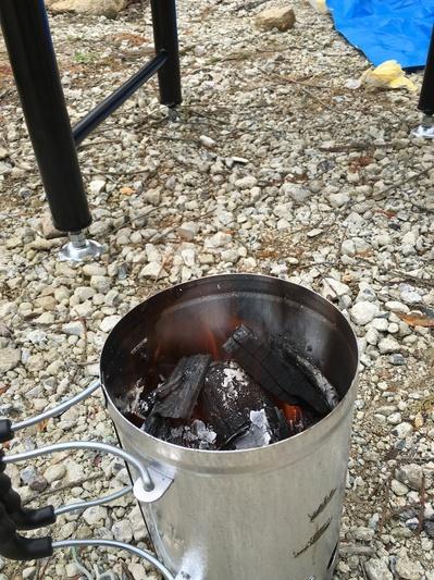 BBQ炭熾し